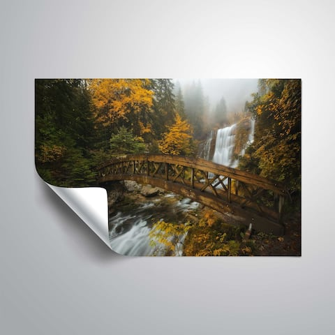 "ArtWall ""A Bridge in the Forest"" Removable Wall Art Mural"