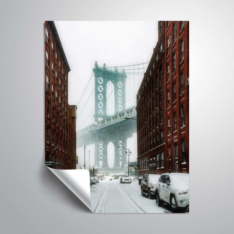 """ArtWall """"The New York Blizzard"""" Removable Wall Art Mural"""