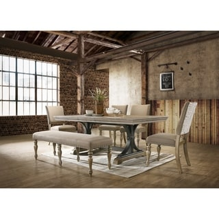 Birmingham Brown Wood 6-piece Dining Set