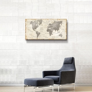 "ArtWall ""Colorful World I Neutral"" Gallery Wrapped Canvas"