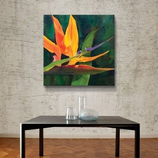 """ArtWall """"Bird of Paradise"""" Gallery Wrapped Canvas"""