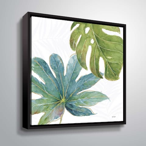 """ArtWall """"Tropical Blush VII"""" Gallery Wrapped Floater-framed Canvas"""