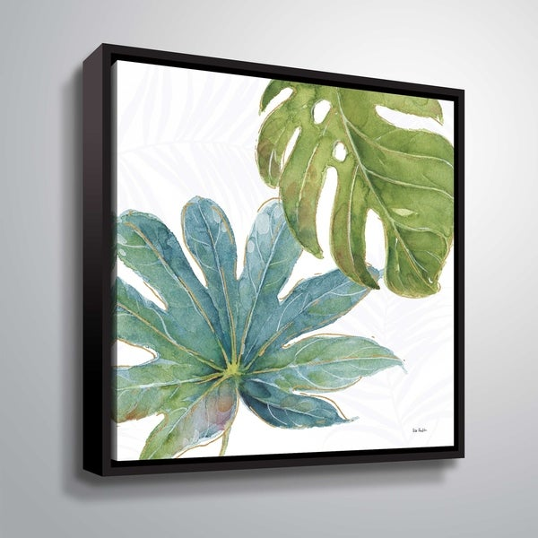 """ArtWall """"Tropical Blush VII"""" Gallery Wrapped Floater-framed Canvas. Opens flyout."""