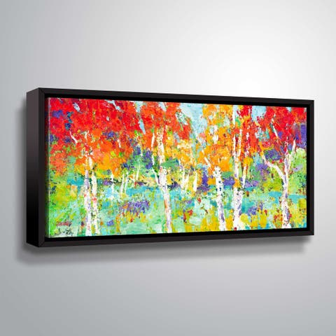 """ArtWall """"Autumn Reflections"""" Gallery Wrapped Floater-framed Canvas"""