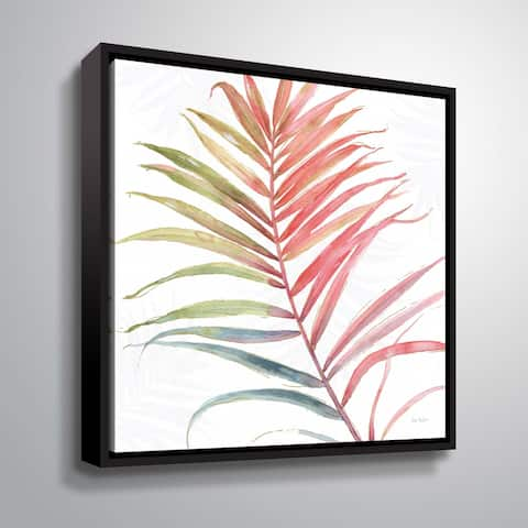 """ArtWall """"Tropical Blush VI"""" Gallery Wrapped Floater-framed Canvas"""