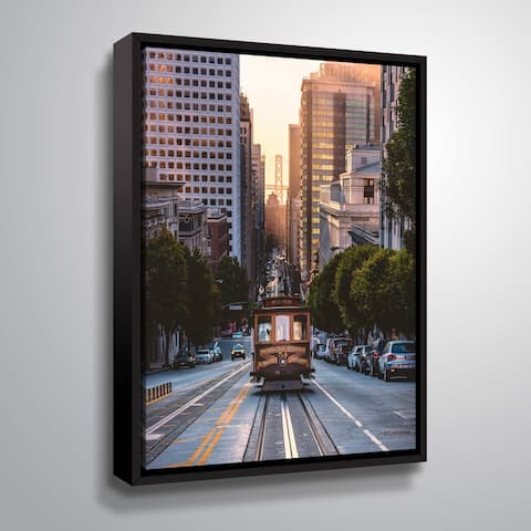 """ArtWall """"The Trolly"""" Gallery Wrapped Floater-framed Canvas"""
