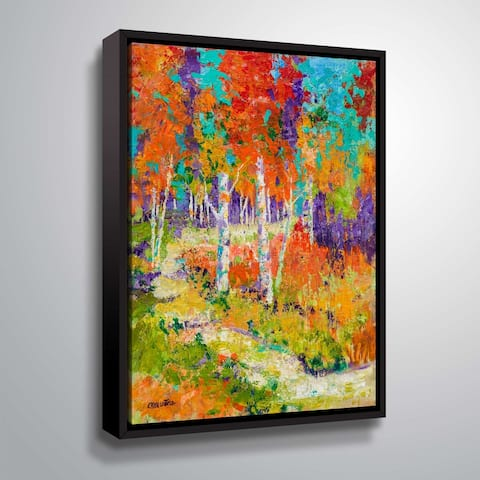 """ArtWall """"Autumn Glory"""" Gallery Wrapped Floater-framed Canvas"""