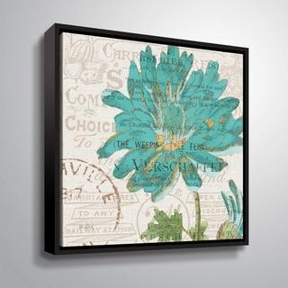 "ArtWall ""Bookshelf Botanical IV"" Gallery Wrapped Floater-framed Canvas"
