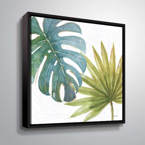 """ArtWall """"Tropical Blush VIII"""" Gallery Wrapped Floater-framed Canvas"""