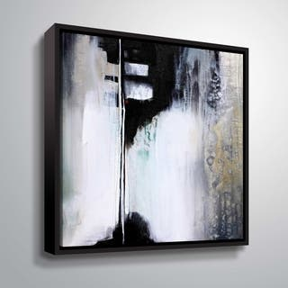 "ArtWall ""Black and White Drama"" Gallery Wrapped Floater-framed Canvas"