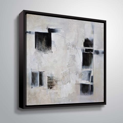 """ArtWall """"Black and White and in Between"""" Gallery Wrapped Floater-framed Canvas"""