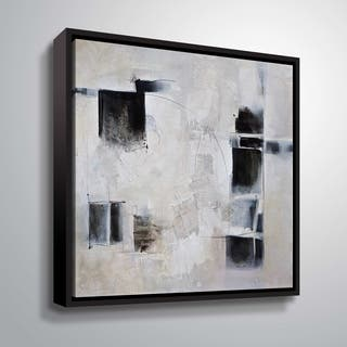 "ArtWall ""Black and White and In Between"" Gallery Wrapped Floater-framed Canvas"