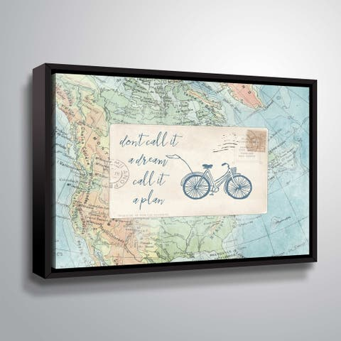 """ArtWall """"Travel Posts I"""" Gallery Wrapped Floater-framed Canvas"""