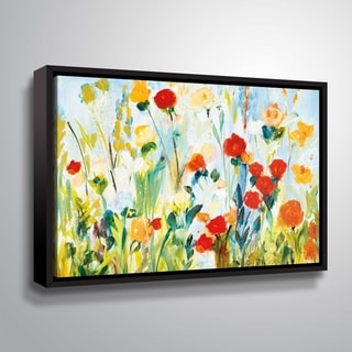 """ArtWall """"Wildflower Afternoon """" Gallery Wrapped Floater-framed Canvas"""