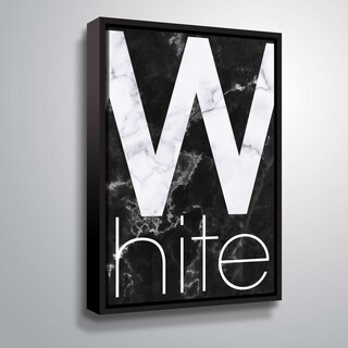 """ArtWall """"White Marble"""" Gallery Wrapped Floater-framed Canvas"""