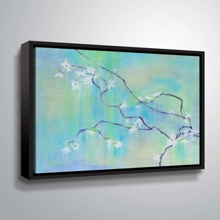 """ArtWall """"In Bloom"""" Gallery Wrapped Floater-framed Canvas"""