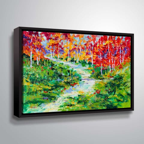 """ArtWall """"Birch in the Wild"""" Gallery Wrapped Floater-framed Canvas"""