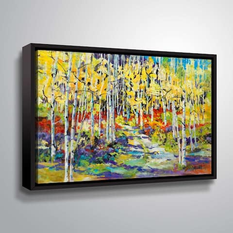 """ArtWall """"Aspen Trail"""" Gallery Wrapped Floater-framed Canvas"""