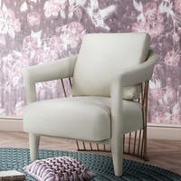 Silver Orchid Balfour Cream Velvet Chair