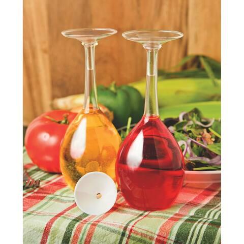 Fox Run Wine Glass Oil and Vinegar Bottle Set