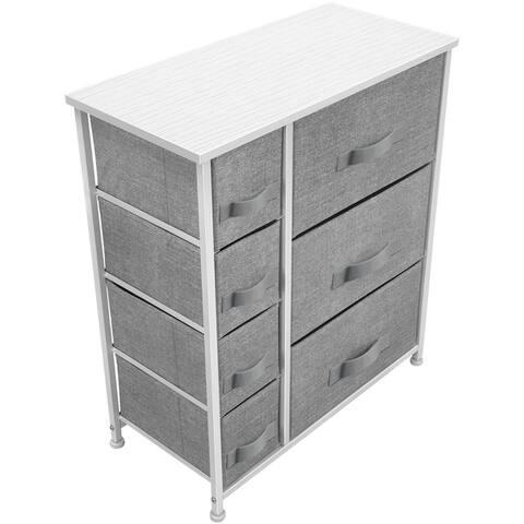 """6 Drawers Chest Dresser - Black - 25"""" L x 11.87"""" W x 28.75"""" H"""