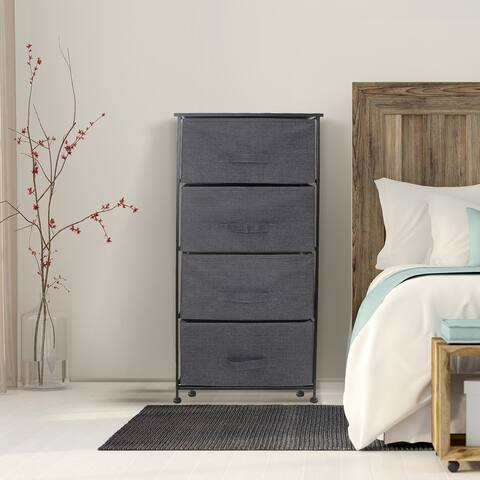 4 Drawers Chest Dresser - Black