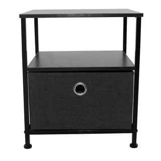 1 Drawers Table Dresser - Black