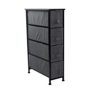 4 Drawers Chest Dresser (Narrow) Black
