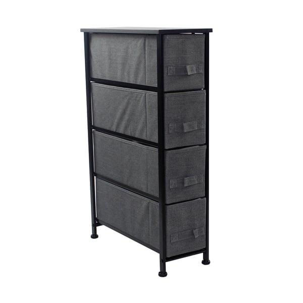 Shop Black Friday Deals On 4 Drawers Chest Dresser Narrow Black Overstock 26062244