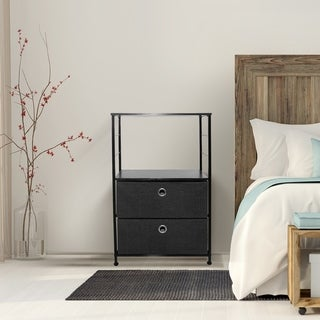 2 Drawers Table Dresser - Black