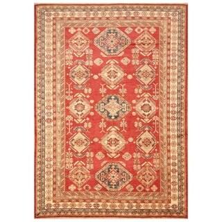 Handmade Super Kazak Wool Rug (Afghanistan) - 6' x 8'5