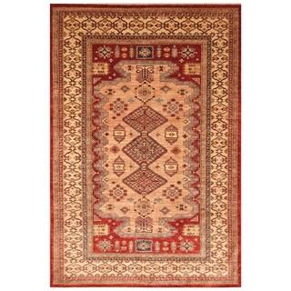 Handmade Super Kazak Wool Rug (Afghanistan) - 5'10 x 8'8
