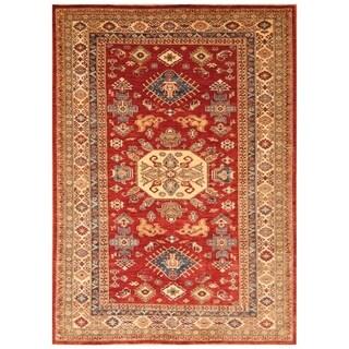 Handmade Super Kazak Wool Rug (Afghanistan) - 6' x 8'3