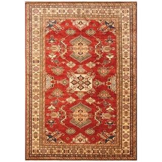 Handmade Super Kazak Wool Rug (Afghanistan) - 5'10 x 8'3