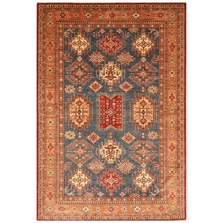 Handmade Super Kazak Wool Rug (Afghanistan) - 6' x 8'10
