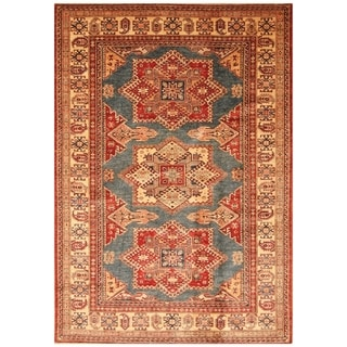 Handmade Super Kazak Wool Rug (Afghanistan) - 5'10 x 8'5