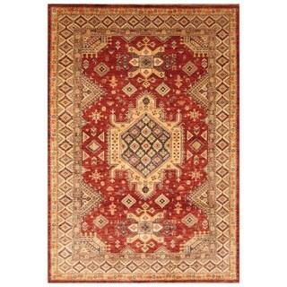 Handmade Super Kazak Wool Rug (Afghanistan) - 6' x 8'9