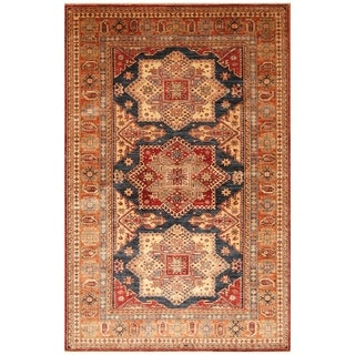 Handmade Super Kazak Wool Rug (Afghanistan) - 5'10 x 9'1