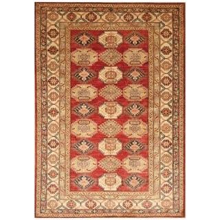 Handmade Super Kazak Wool Rug (Afghanistan) - 6' x 8'8