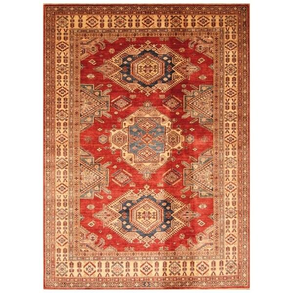 Handmade Super Kazak Wool Rug (Afghanistan) - 5'10 x 8'1