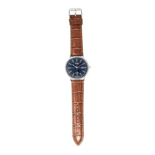Dakota Vintage Style 42mm Slim Fit Watch with Leather Band