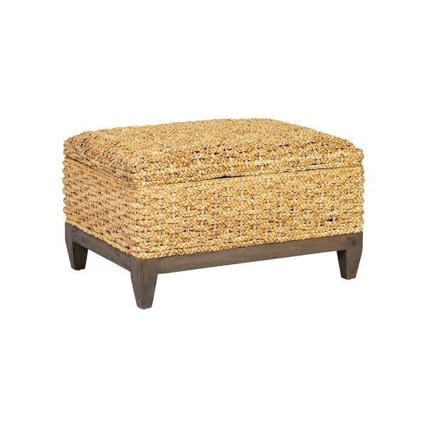 Shop East At Main Lucinne Water Hyacinth Ottoman On Sale