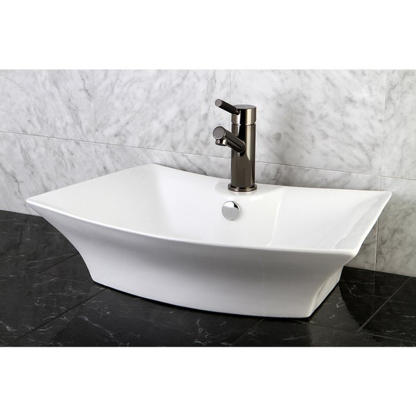 Sonata White China Vessel Lavatory Sink