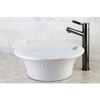 Laurel White China Vessel Sink