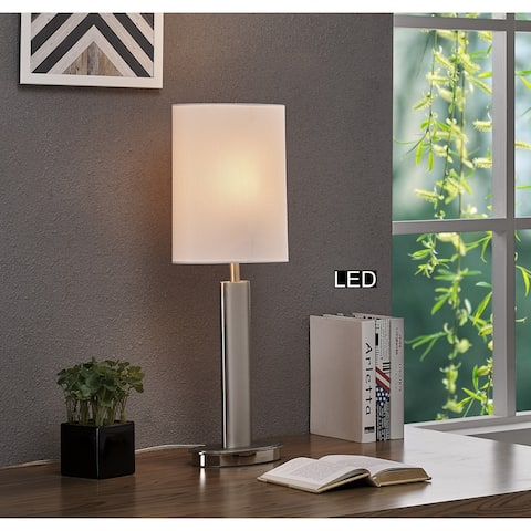 Artiva Catriona LED Touch Table Lamp, 27, Satin Nickel