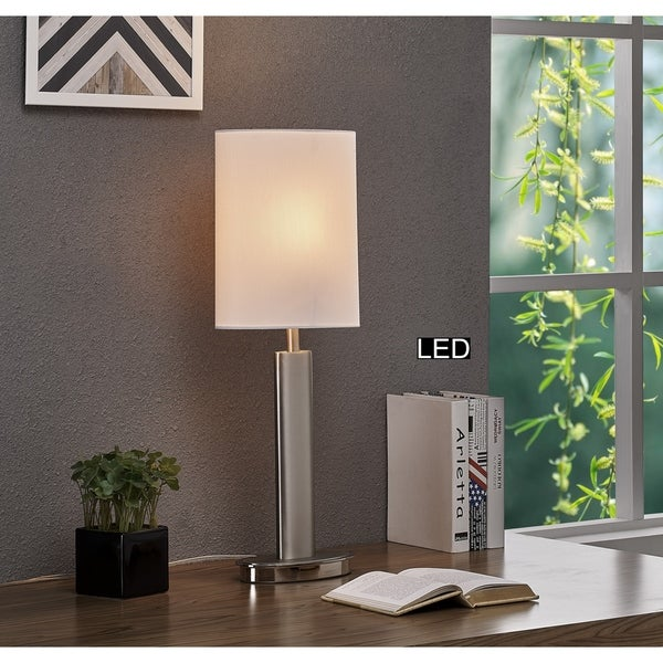 Artiva Catriona LED Touch Table Lamp, 27, Satin Nickel. Opens flyout.