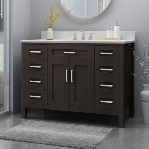 "Greeley 48"" Wood Bathroom Vanity (Counter Top Not Included) by Christopher Knight Home"