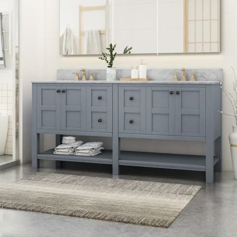 """Jamison 72"""" Wood Bathroom Vanity (Counter Top Not Included) by Christopher Knight Home"""