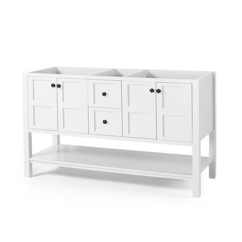 """Jamison 60"""" Wood Bathroom Vanity (Counter Top Not Included) by Christopher Knight Home"""