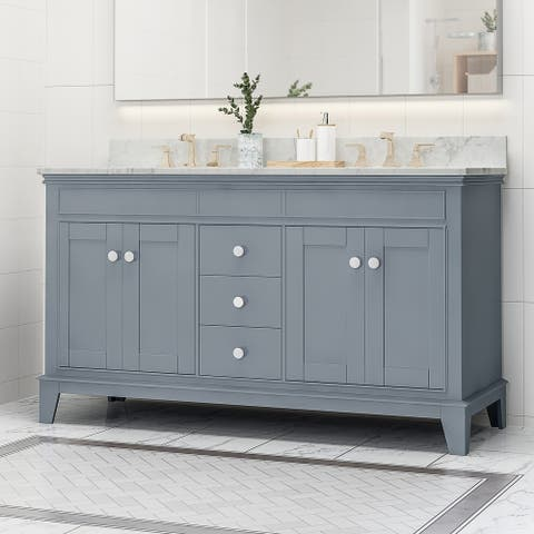 "Feldspar 60"" Wood Bathroom Vanity (Counter Top Not Included) by Christopher Knight Home"